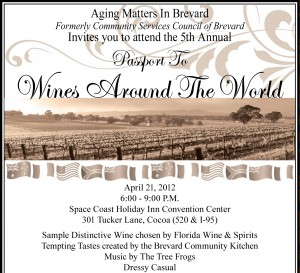 2012 Passport To Wines Aging Matters In Brevard – April 21, 2012
